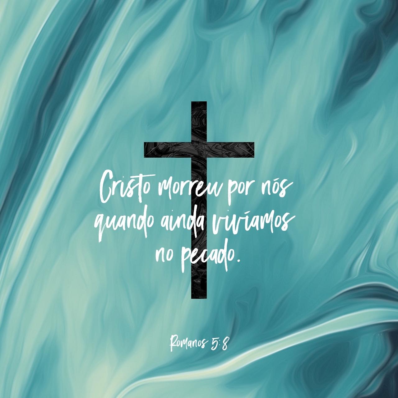 Imagem do Versículo de Romanos 5:8