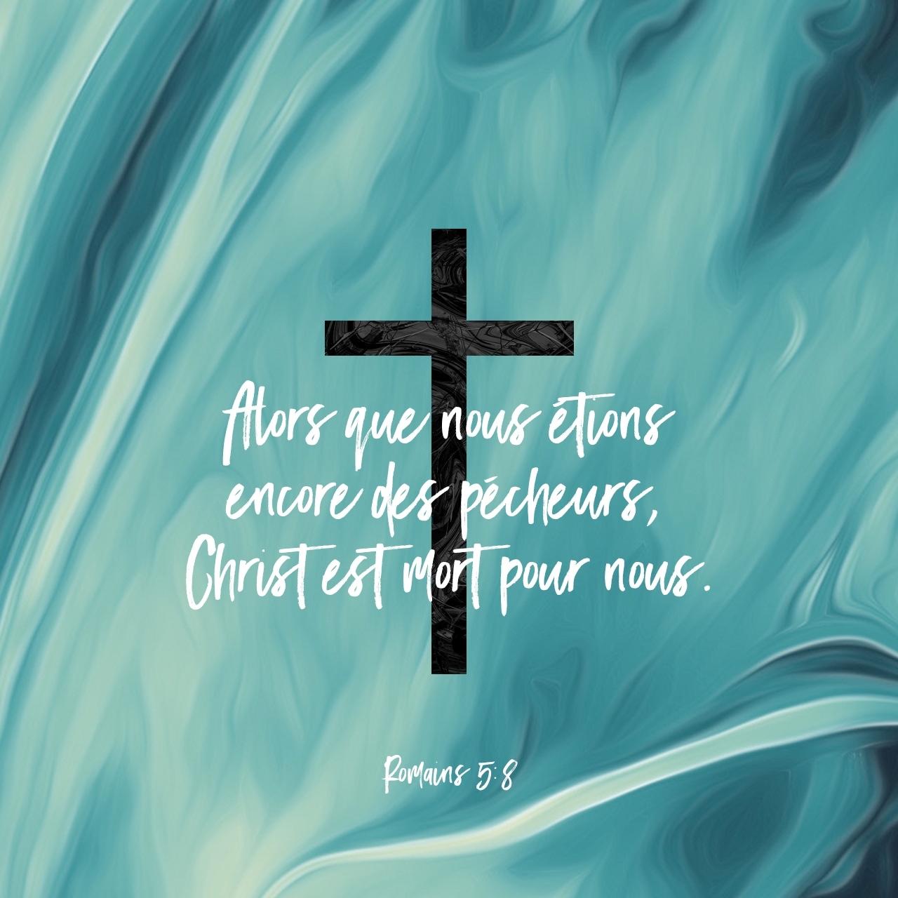 Romains 5:8 Verset Illustré