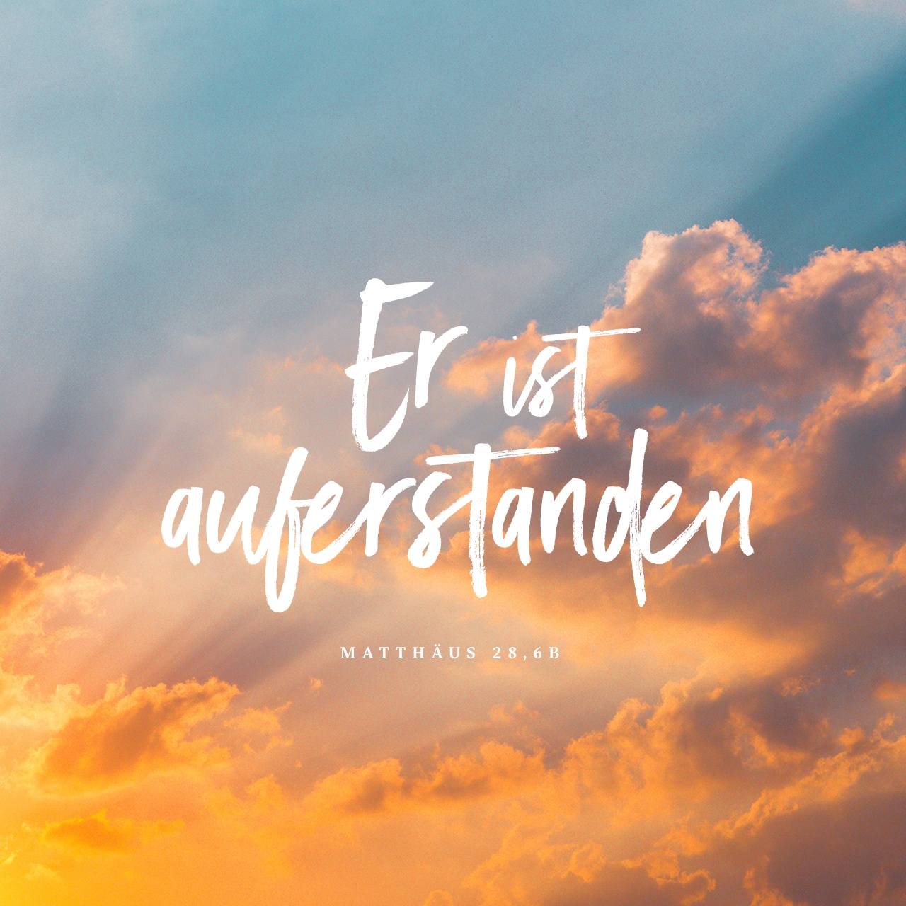 Versbild: Matthäus 28,6