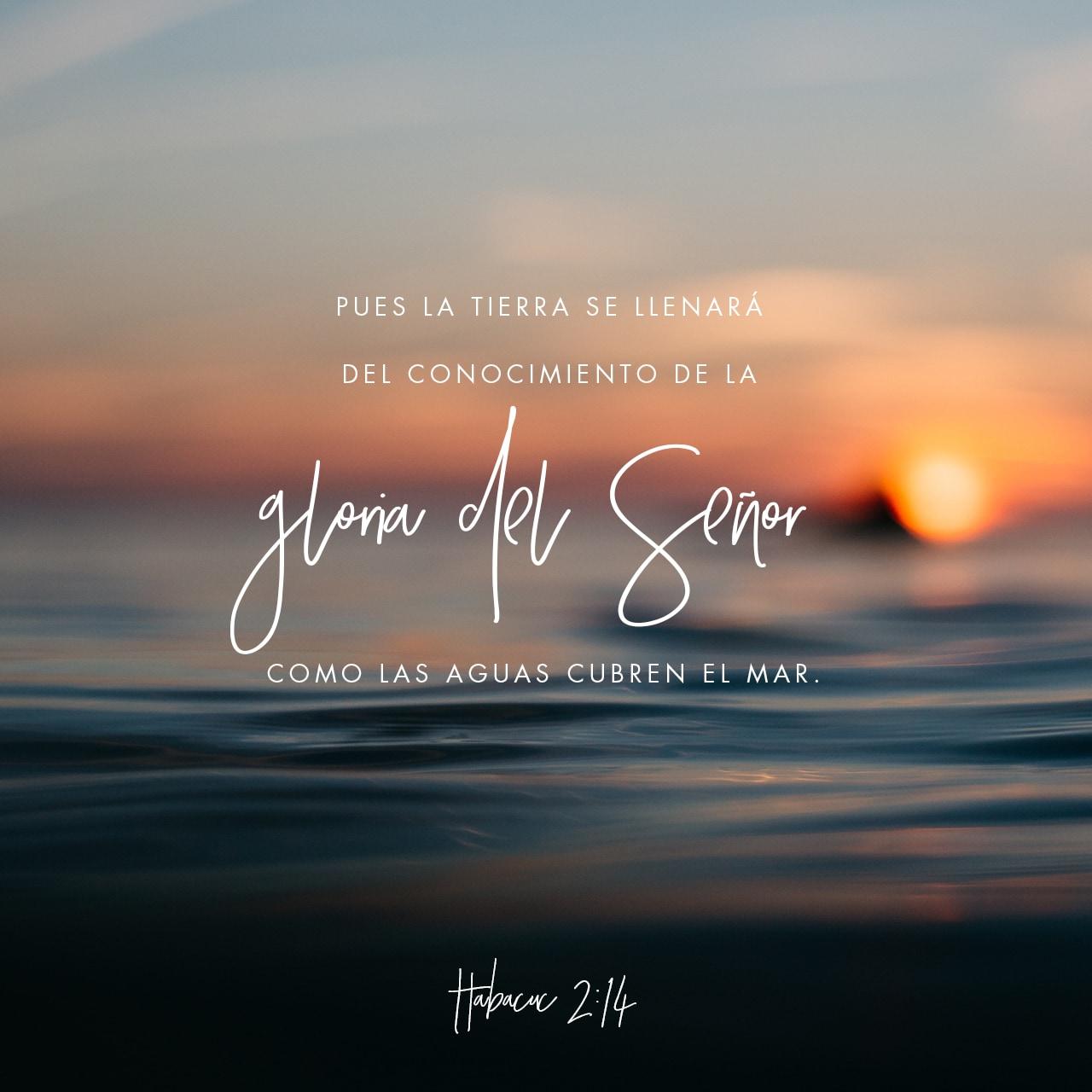 Imágen de Versículo de Habacuc 2:14