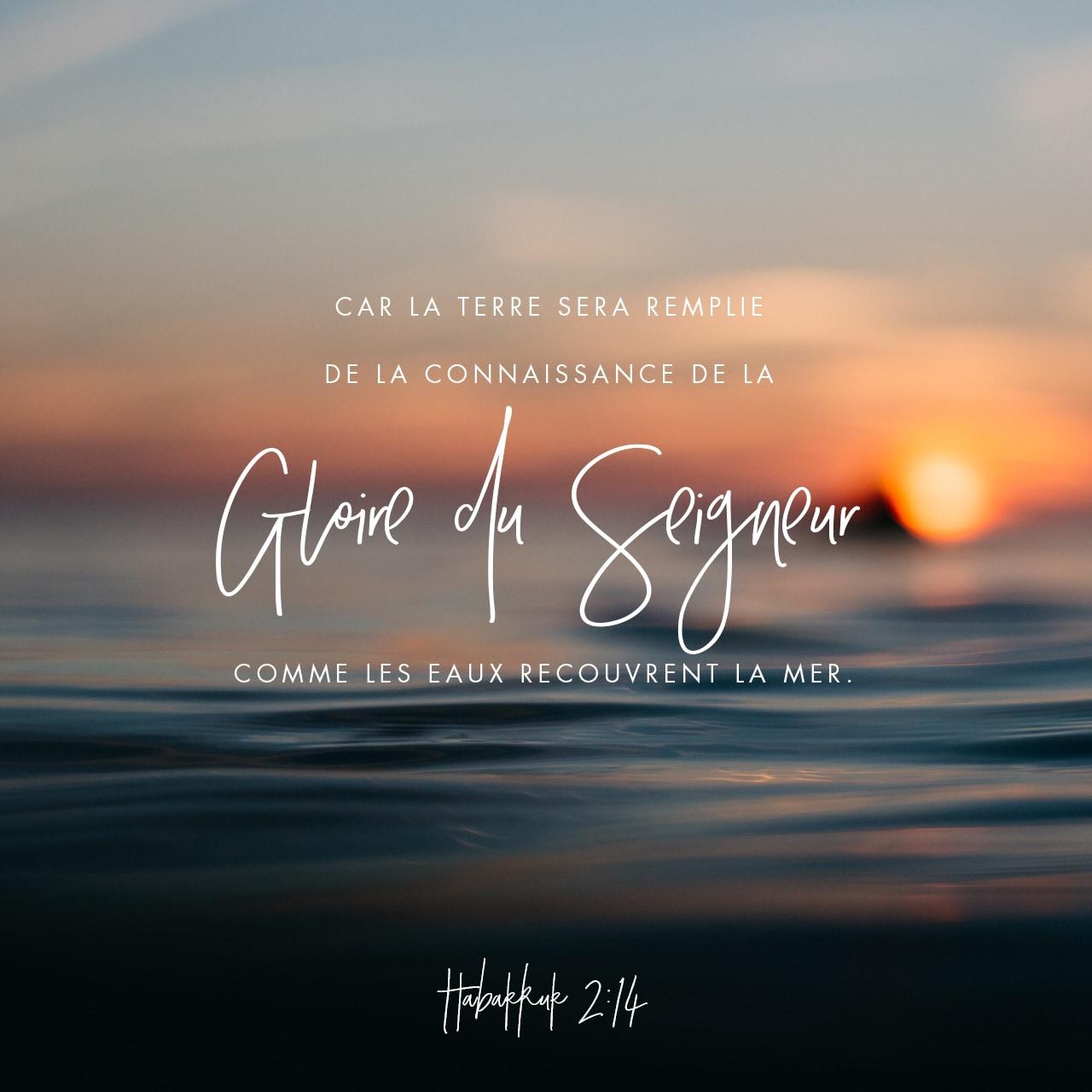 Verset illustré de Habacuc 2:14