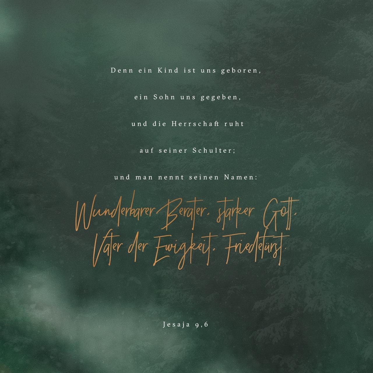 Versbild für Jesaja 9,6