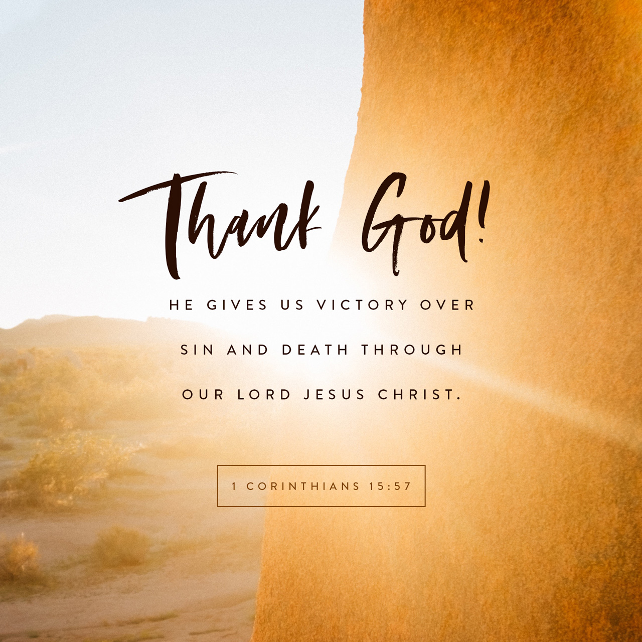 Verse Image - 1 Corinthians 15:57